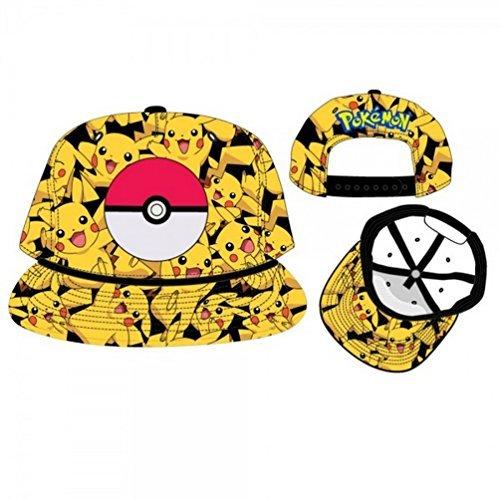 BIOWORLD-Pokemon-Pikachu-All-Over-Print-Snapback-Cap-by-bioWorld