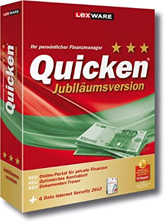 Quicken 2012 Jubiläumsversion (Version 20.00)