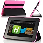 MoKo Ultra-Lightweight SlimShell Standing Cover Case for Amazon Kindle Fire HD 7 Inch Tablet, MAGENTA (with Automatic Wake/Sleep Feature)