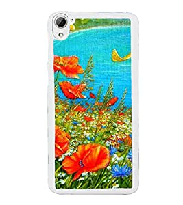 Colourful Painting 2D Hard Polycarbonate Designer Back Case Cover for HTC Desire 826 Dual Sim