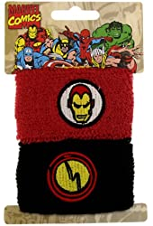 Marvel Comics Ironman Double Cuff Sweat Bands Pony Tail Wraps 8008
