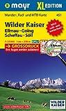 Wilder Kaiser -  Ellmau - Going - Scheffau - Söll XL: Wander-, Rad- und Mountainbikekarte. GPS-genau. 1:25000