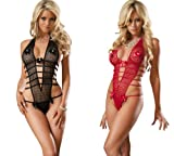 Juliet's Kiss Lace See Through teddy with flower bow details Bedroom Lingerie One Size fits UK 6-12