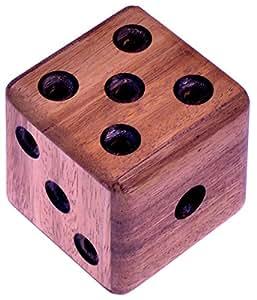 Labyrinth Würfel - Denkspiel - Knobelspiel - Geduldspiel aus Holz mit 'Innenleben'