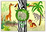 Dolce Mia Jungle Animals Safari Birthday Thank You Cards - 10 Cards