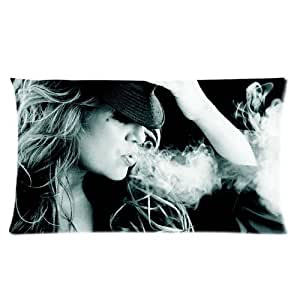 Jenni rivera Smoke Pattern Black And White Personalized Pillowcase For