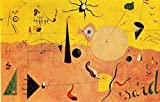 Tallenge - Catalan Landscape (The Hunter) by Joan Miró - Medium Size Rolled Canvas Art Print (11x18 inches)