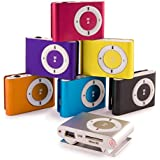 gNg Random Mini MP3 Player with Clip for Sports & Running. Small Mini MP3 player SD card compatible (Not included) Supports 1 - 8GB Micro SD TF. Includes Earphone & USB Cable