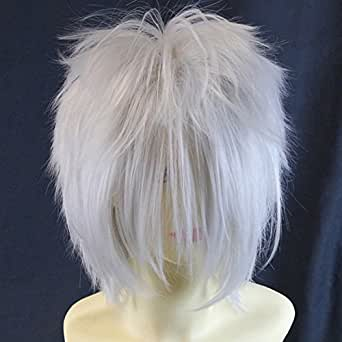 Naruto Kakashi Spiky Silver Grey Cosplay Wig Theater Outfit Wigs from WIWIGS UK
