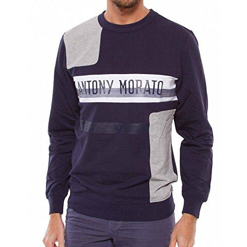 Felpe Antony Morato Stampa Blu Navy L Blue