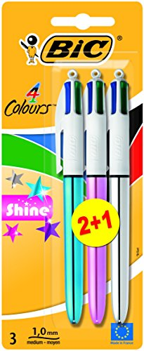 bic-4-colour-shine-ball-pen-assorted-colours-pack-of-3
