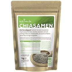 NutriVerde Chia Samen im Vorteilspaket 1 Kg (1000g)