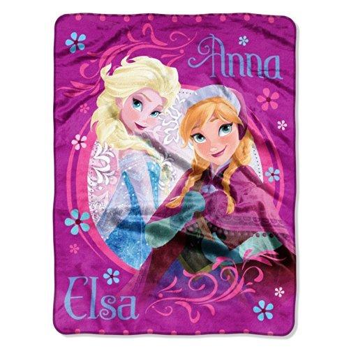 Disney Frozen Anna And Elsa Micro Raschel Throw Blanket Pink 46 X 60 front-504022