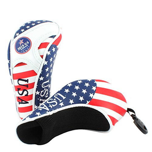 Golf Stars and Stripes American USA US Flag Hybrid Headcover Head ...