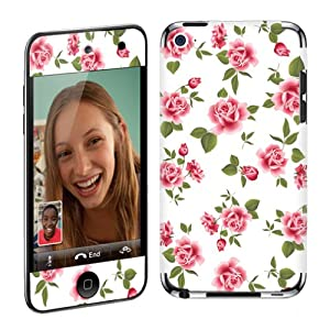 Apple iPod Touch 4G (4th Generation) Vinyl Protection Decal Skin White Rose Garden
