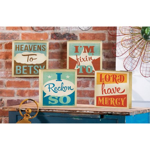 Southern Charm Catch Phrases Wood Wall Plaques Set of 4