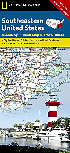 Southeastern USA (National Geographic Guide Map) (Map Central South America compare prices)