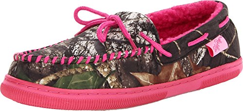 Camouflage Women's Moccasin Slippers made our list of camping gifts couples will love and great gifts for couples who camp