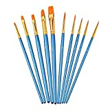 Raybre Art® Künstlerpinsel Schrägpinsel Acrylpinsel Set Pinselset für Acrylfarben und