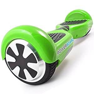 Powerboard by HOVERBOARD - 2 Wheel Self Balancing Scooter with LED Lights - Hands Free Battery Powered Electric Motor - Airboard - The Perfect Personal Transporter - USA Company