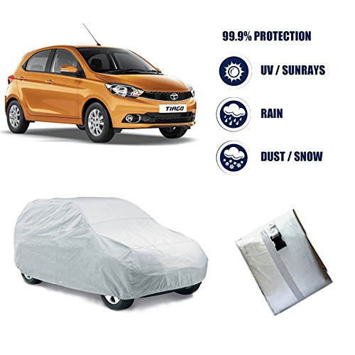 Autowheel Bright Silver Matte Car Body Cover For Tata Tiago