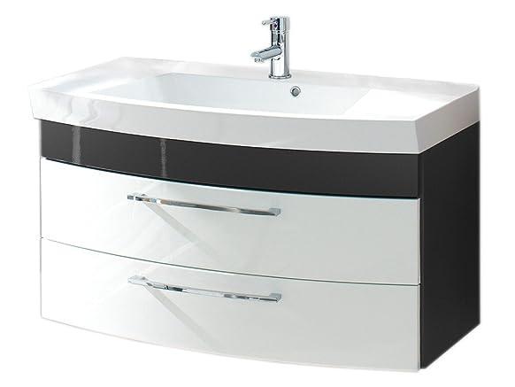 Posseik 587099armadietto da bagno, colore: Bianco/Antracite