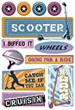 Karen Foster Design – Stickers – Bikes and Scooters Collection – Kids Scooters Picture