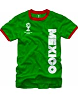 2014 Fifa World Cup Ringer Jersey Mexico T-Shirt Green