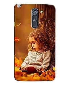 Omnam Girl Sitting Behind Tree Printed Designer Back Cover Case For LG G3 Stylus]