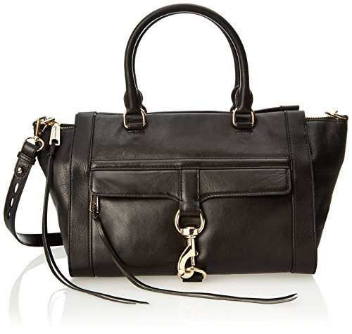 Rebecca Minkoff Bowery Satchel Handbag,Black,One Size