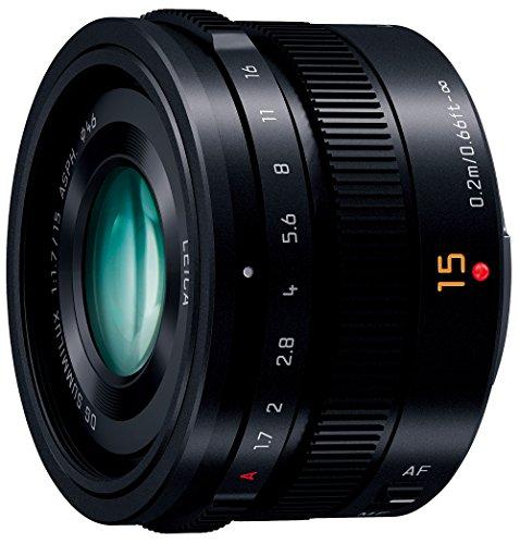 Panasonic マイクロフォーサーズ用 交換レンズ LUMIX G LEICA DG SUMMILUX 15mm /F1.7 ASPH. ブラック H-X015-K
