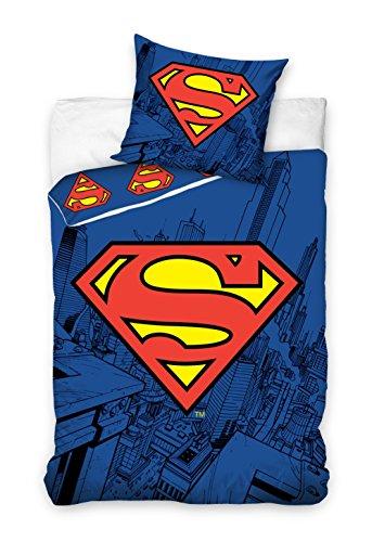 Copripiumino Singolo Superman 160 X 200 Cm Federa 70 X 80 Cm Cotone