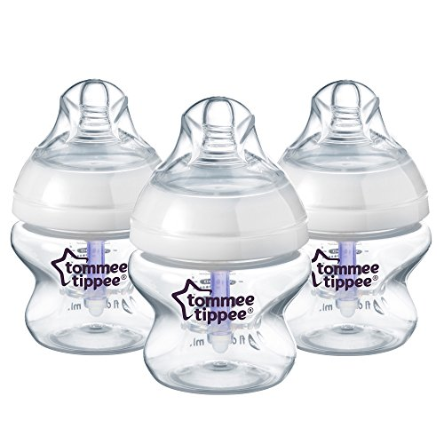 Tommee Tippee Closer to Nature Anti-Colic Bottles, 5 Ounce, 3 Count