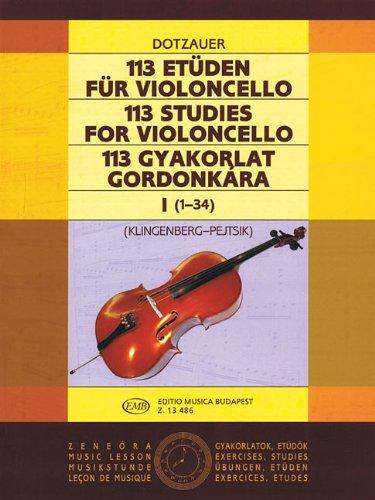 113 Studies - Volume 1: Cello Solo