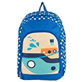 Unisex Children Boats Design Travel Gadget Play Backpack Fits Impecca Portable DVD Players