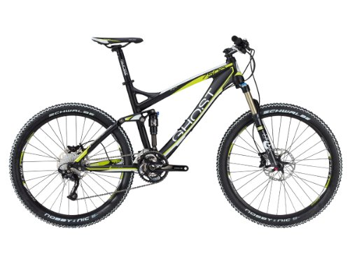 Ghost Herren MTB Fullies AMR 7500 black white lime green