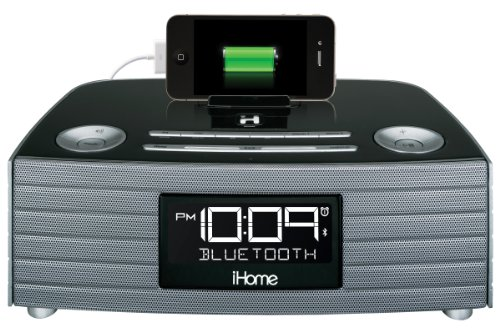 iHome iBN97GC NFC Bluetooth Stereo FM Clock Radio and Speakerphone with USB Charging