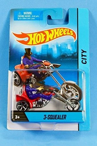 Hot Wheels 3-Squealer City Motorcycle new blue package