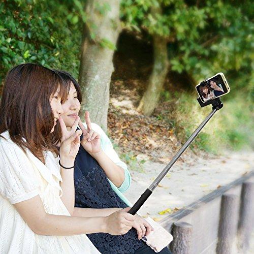 FUN-TA-STICK ファンタスティック for iPhone android スマートフォン ワイヤレスシャッター機能付き一脚 (ネイビー) SP1596
