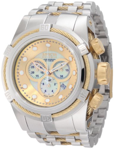 Invicta Men's 0822 Reserve Chronograph Mother of Pearl Dial Stainless Steel Watch