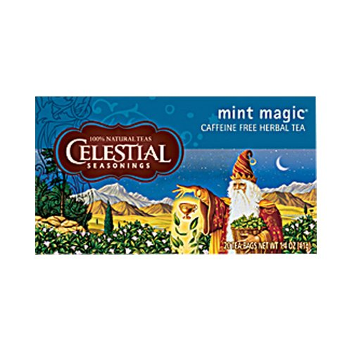 Celestial Seasonings Herbal Tea Caffeine Free Mint Magic - 20 Tea Bags - Case of 6