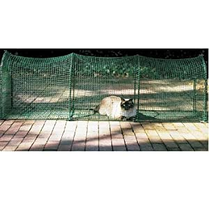 Kittywalk Outdoor Net Cat Enclosure for Decks, Patios, Balconies