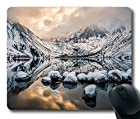 Convict Lake Mouse Pad Oblong Shaped Mouse Mat Design Natural Eco Rubber Durable Computer Desk Stationery Accessories Mouse Pads For Gift