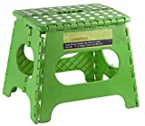 """Greenco Super Strong Foldable Step Stool for Adults and Kids - 11"""" in Height, Holds up to 300 Lb!!! (Green)"""