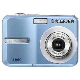Samsung S860 8.1MP Digital Camera with 3x Optical Zoom (Blue)
