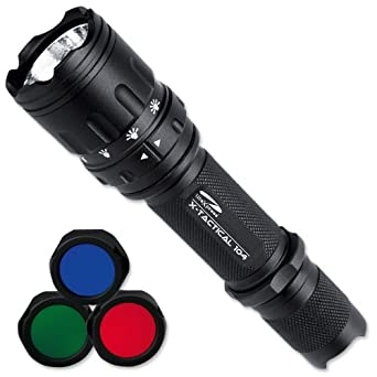 LiteXpress X-Tactical 104 LED-Taschenlampe bis zu 190 ...