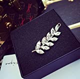 Blingys Sparkling Crystal Clear Leave Shape Jewelry Hair Clip/Barrette/Hairpin/Bobby Pin (Packed With Our Blingys Bag)