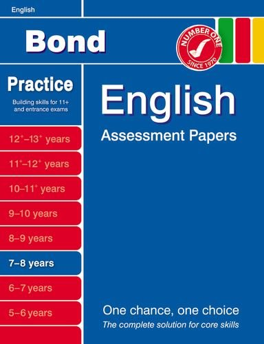 Bond English Assessment Papers 7-8 years