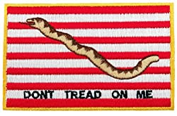 US Navy Jack Flag Embroidered Patch Don't Tread on Me Iron-On American Military