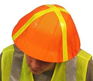 ERB 13761 S291 Hi-Vizability Hard Hat Cover, Fluorescent Orange
